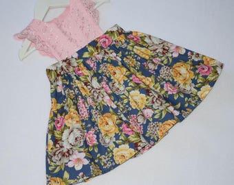 Girls Pinafore,Toddler Dress,Toddler Pinafore,Floral Fabric Dress,Floral Pinafore,Girl Outfit,Toddler Outfit,Flutter Sleeve Pinafore, Dress