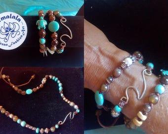 Healing bracelet shamala ocean stone