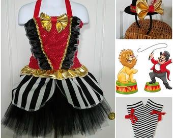 Ringmaster outfit, Ring Master outfit, Ringmaster tutu set, Ringmaster Costume, Ringmaster Birthday, Circus Ringmaster