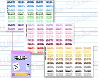 Time For Some Homework School College Planner Stickers