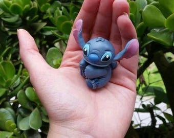 Disney Stitch Polymer Clay Necklace or Keychain. 100% handmade, Lilo & Stitch