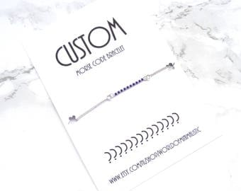 Custom morse code bracelet, BFF morse code bracelet, best friends gift, morse code jewelry, minimalist dainty bracelet, delicate bracelet.