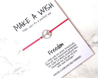 Freedom friendship bracelet make a wish bracelet peace macrame bracelet birthday gift friendship gift minimalist bracelet everyday bracelet