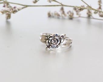 Silver Toe Ring, Rose Toe Ring, Free Size Toe Ring, Simple Toe Rings, Bridesmaids Gift, Boho  Toe Ring, Minimal Toe Band, (TS 58)