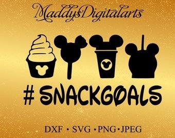 Disney Snack Goals ,Disney Clip art, Silhouette svg, Cutting File, heat transfer vinyl