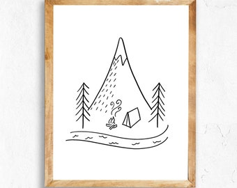 Happy Camper printable (INSTANT DOWNLOAD)