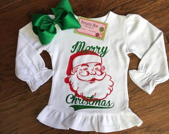 Vintage Santa Ruffle Shirt
