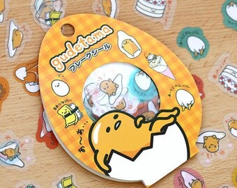 Gudetama Flake Stickers / Japanese Stickers / Cute Stickers / Lazy Egg Stickers / Sanrio / Scrapbook Stickers / Planner Stickers