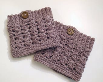 Boot cuffs crochet boot cuffs