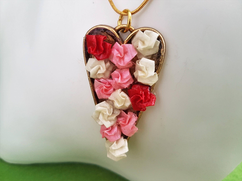Paper flower heart kubreforic paper flower heart mightylinksfo