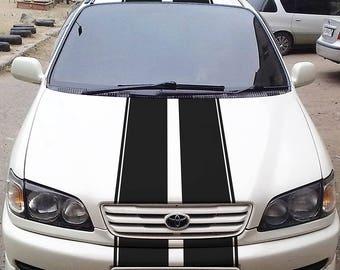 Car Rally Stripes decals Rally Racing Stripes decals Vinyl Rally Stripes Stripe Kit For car truck universal kikcar10