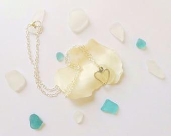 Beach Glass Necklace Sea Glass Jewelry Sea Glass Necklace  Mermaid Jewelry Beach Wedding Jewelry Beach Bridesmaid Necklace- Sea Glass Pedant