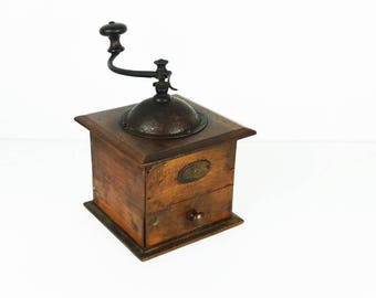 French vintage coffee grinder, Peugeot, Kitchen decor