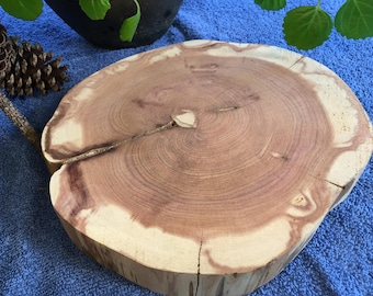 """Raw Block of 1 3/8"""" Thick Aromatic Cedar Aproximently 8 1/2"""" In Diameter"""