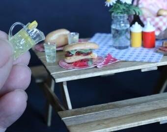Miniature Picnic Table Setting