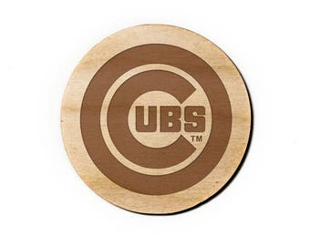 Chicago Cubs Engraved Birch Coasters