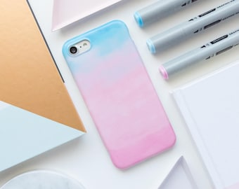 Pink Watercolor iPhone Case - iPhone 7 Case, iPhone 7 Plus Case, iPhone 6s Case, iPhone 6s Plus Case, Watercolor, Matte iPhone Case, iPhone