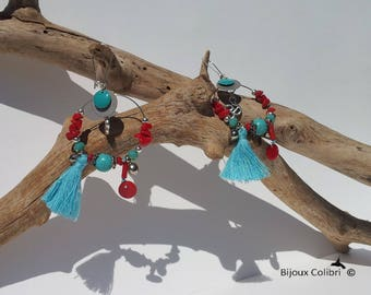 """Sagarmatha"" Hummingbird earrings"