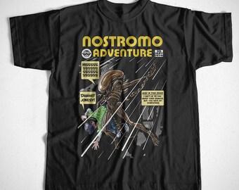 T-Shirt Nostromo Adventure S M L XL 2XL 3XL 4XL Alien Movie Serie Kult Predator
