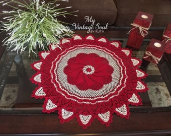 Crochet Table Centerpiece - Crochet Lace Doily - Handmade Doilies - Cottage Decor - Pinwheel Crochet Doily - Vintage Decor - Wedding Gift