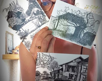 Set of 3 postcards in very limited edition!