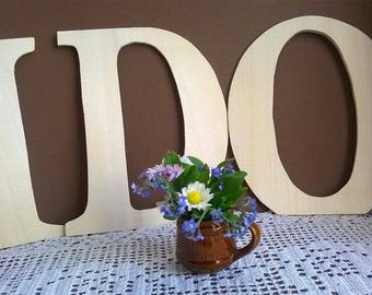Wooden Wedding letters , Wedding letters , Wooden initials, table decor large wooden letters 20 cm