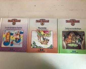 1985 Three Teddy Ruxpin Books