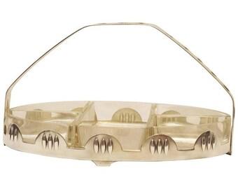 Art Deco Dish with Handle, Centerpiece