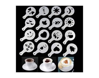 16 stencils coffee cappuccino or cake decor