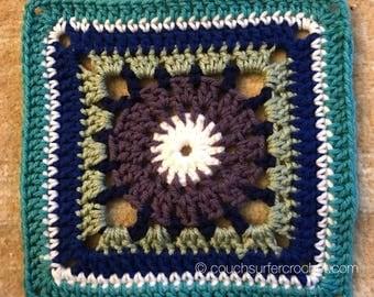Shattered Circle Square Crochet Pattern / Granny Square Crochet Pattern / Granny Square / Granny Square Pattern / Crochet Pattern