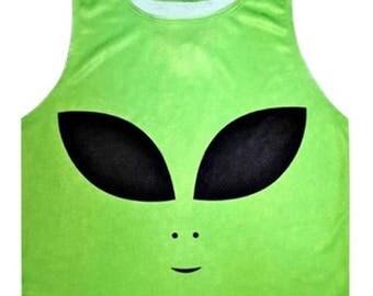 preorder!! green alien crop top!!