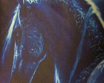 Beautiful Blue Lightening Horse Pillow