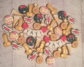 Bachelorette Party Mini Sugar Cookies
