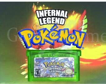 Pokemon Infernal Legend fan made hack for GBA Gameboy Advance