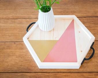 Hexagon Geometric Display Tray