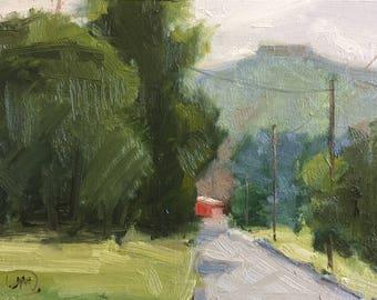 """Tablerock 6X8"""" Plein air Painting Original Oil Painting"""