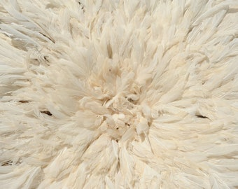 "Juju hat (Bamilike hat) white/creme 80 cm (31.5"")"