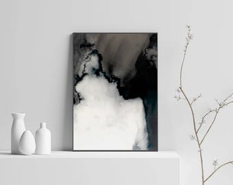 Black Abstract Art Digital Print Large Wall Art Black And White Abstract Poster Modern Art Instant Download Living Room Art Office Decor