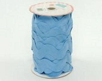 "1 1/2"" JUMBO Riley Blake  Sew together Ric Rac  Med Blue"