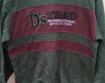 Vintage D's Trad International Sport Time sweatshirt spell out crewneck jumper