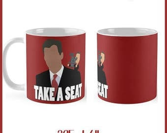 Take A Seat Funny Chris Hansen  325ml Mug