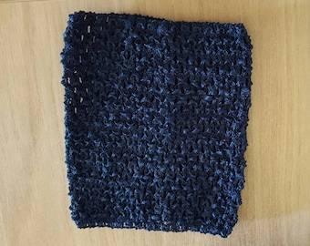 balances 3.40 instead of 3.80.BUSTIER Navy Blue stretch crochet for baby 0-16 month tutu dress creation