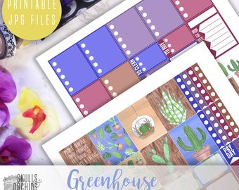 Greenhouse Weekly Kit - Printable Stickers for ERIN CONDREN