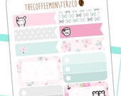 anniversary functional sheet - hand drawn emoti stickers for your planner! E221