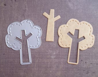 Die cut matrix Sizzix Tron tree Nature
