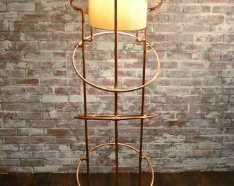 Floor Lamp - Spiral Galaxy Copper Floor Lamp