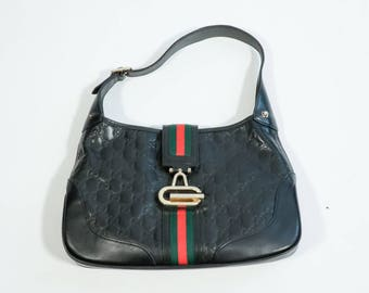 GUCCI - Leather logated bag