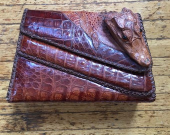 Vintage Gator Clutch