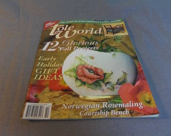 Tole World, Decorative Painting Magazine, October 2000 Back Issue, Pattern Sheet Included