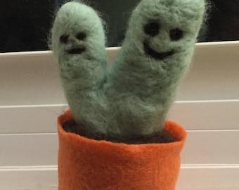 Needle felted cactus